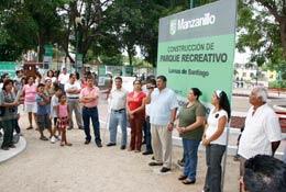 Inaugura nabor parque en Lomas de Santiago