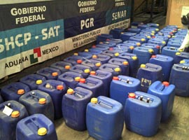 PGR y Armada decomisan 2.6 toneladas de precursor de éxtasis en Mzo
