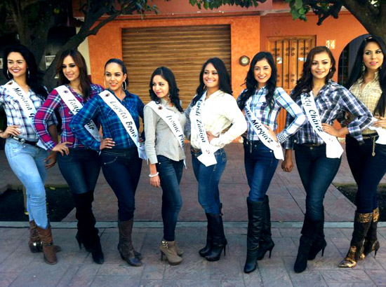 'La Villa' presenta a candidatas a reina de Fiestas Charrotaurinas 2014