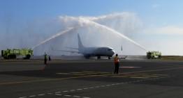Delta Airlines arribó este fin de semana al aeropuerto internacional de Playa de Oro en Manzanillo