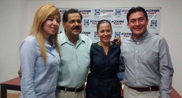 Fernando Antero y Gretel Culin, precandidatos del PAN a diputaciones federales