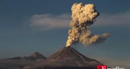 Intensa actividad del Volcán de Colima este jueves 5 de febrero: PC