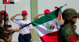 Jóvenes del SMN en Colima juran bandera