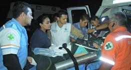 SSJ traslada vía aérea a estudiantes lesionados en accidente