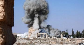 Estado Islámico divulga imágenes de destrucción templo romano en ciudad siria de Palmira