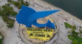 'eZombieWalk Nacional' de Greenpeace, demandan plan de manejo de televisiones desechadas
