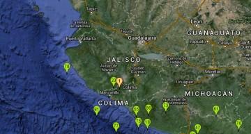 Sismo de magnitud 4.4 con epicentro en Coquimatlán, la madrugada de este lunes