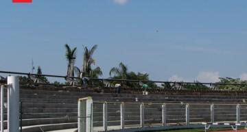 Obras en la cabecera sur del Estadio Olímpico Universitario