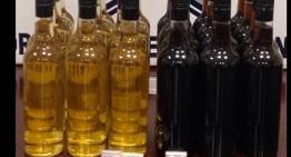 En Sonora, Policía Federal detectó 18 litros de metanfetamina líquida oculta en botellas de vino