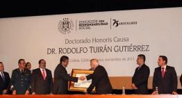 U de Colima entrega Doctorado Honoris Causa a Rodolfo Turián Gutiérrez