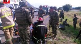 Militaressufren accidente en Zacatecas; hay dos fallecidos y más de 15 lesionados