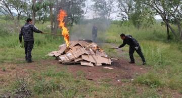 PGR incinera más de 350 kilos de narcóticos en Colima