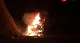 Dos tráileres involucrados en accidente en carretera Guadalajara-Guzmán, uno se incendió