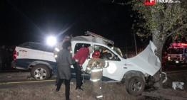 Patrulla de SSP en Michoacán choca y mueren tres oficiales; hay cuatro lesionados más