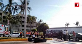 Carambola en boulevard costero deja saldo de una mujer lesionada