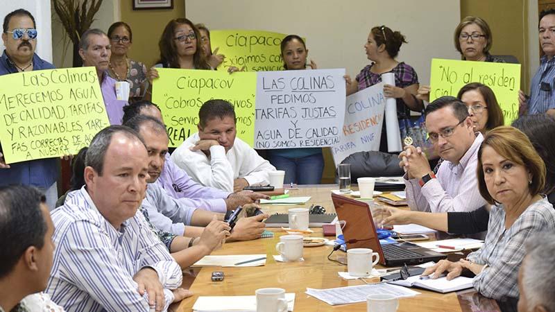 Protesta por deficiencias en servicio de agua potable