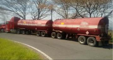PF interceptó en Colima cuatro vehículos que transportaban hidrocarburo sin documentación
