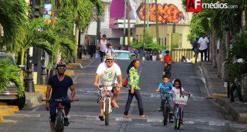 El día que el centro de Colima y 'La Villa' fue para las bicicletas