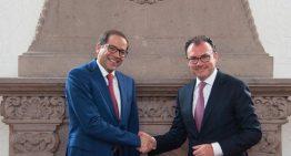Ignacio Peralta se reúne con secretario de Hacienda, analizan finanzas estatales