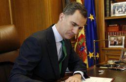 Rey de España convoca a nuevas elecciones legislativas para el 26 de junio