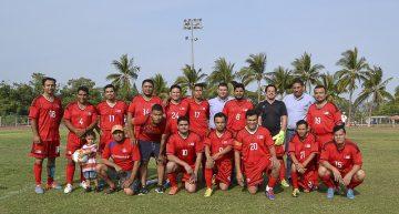 En celebración por el Día de la Marina, inicia el torneo de futbol