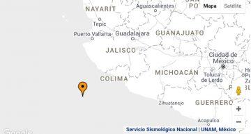 Sismo frente a costas de Colima y Jalisco no provocó daños