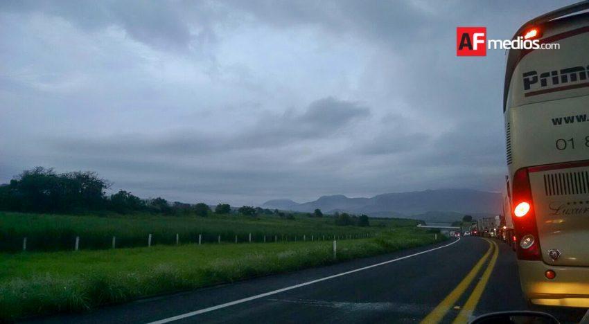 Tráfico lento por accidente en Autopista Colima-Guadalajara