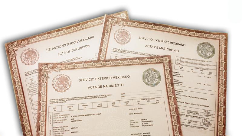 Oficinas consulares expedir n actas del registro civil for Oficina registro civil
