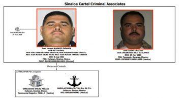 Departamento del Tesoro de EEUU sanciona a asociados de alto rango del cártel de Sinaloa