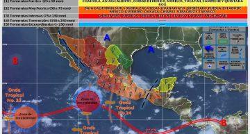 Probabilidad de lluvia y temperaturas cálidas, pronóstico para Colima del SMN