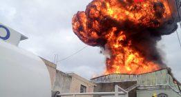 Fábrica de químicos se incendió en Guadalajara