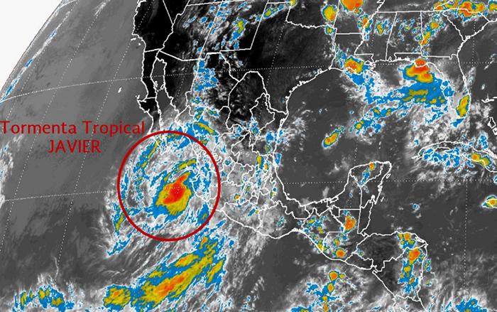 07/08/2016 @ 16:39 Ciclón Tropical en el Océano Pacífico