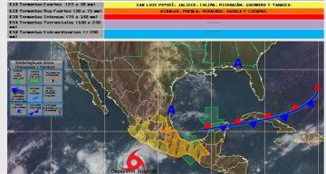 Seymour se aleja de Colima, hoy sería huracán 1: SMN