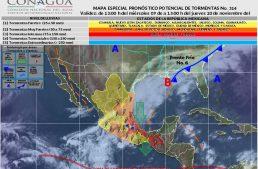 Nublados y probabilidad de tormentas por la tarde en algunas zonas de Colima: SMN