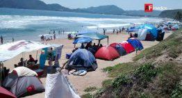 PC recomienda no acampar en playas que no cuenten con guardavidas