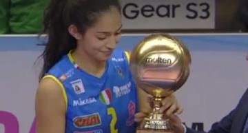 Samantha Bricio gana Copa de Italia y es jugadora más valiosa