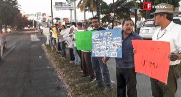 Manifestación contra el gasolinazo en crucero de Sevilla y Constitución