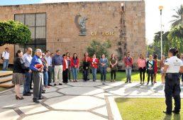 UdeC participó en conmemoración estatal por el sismo de 2003