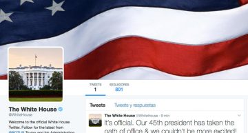 Cuenta de twitter The White House cambia imagen con juramento de Donald