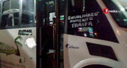 Urbanos de Manzanillo se suman simbólicamente a protestas contra gasolinazos