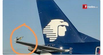 Aeroméxico cancela dos vuelos por roce de alas