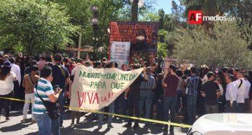 Periodistas de Chihuahua protestan por asesinato de Miroslava