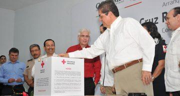 Asiste Rector al arranque de la Colecta Anual de la Cruz Roja Mexicana 2017