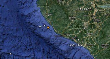 Sismo de magnitud 4.3 en Cihuatlán Jalisco
