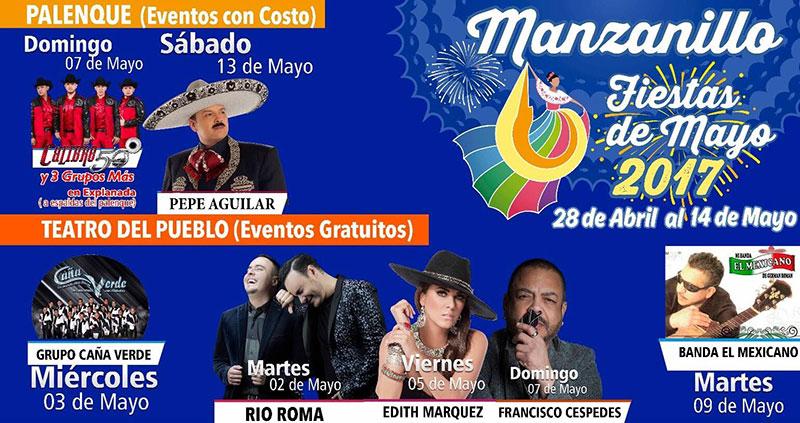 Manzanillo presentar espectacular elenco en las fiestas for Eventos madrid mayo 2017
