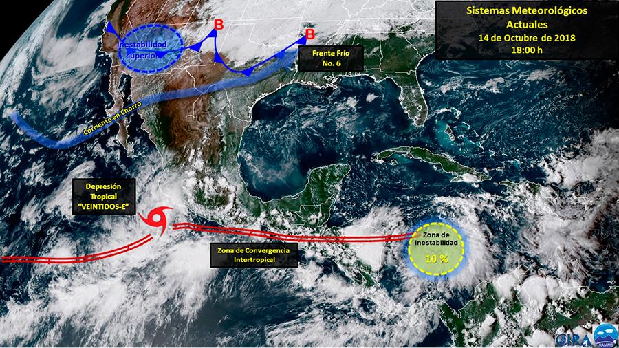 Se acerca tormenta tropical a costas de Michoacán